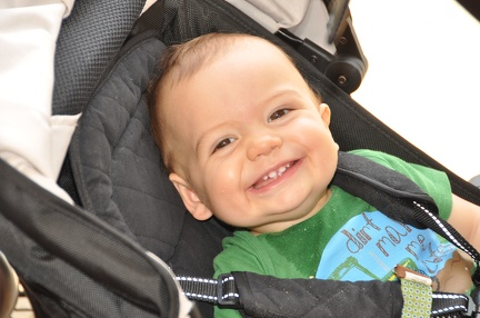 Happy JB in the stroller2