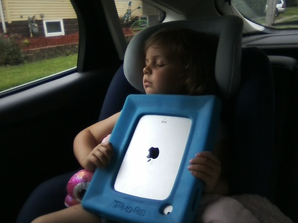 First time ever falling asleep with the iPad in her hands