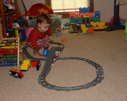 JB playing with the train1