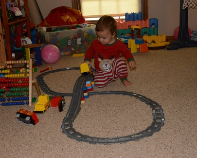 JB playing with the train2