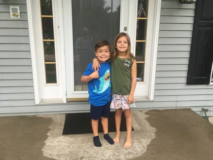 First Day of School 2019 - JB Kindergarden and Greta 3rd grade1