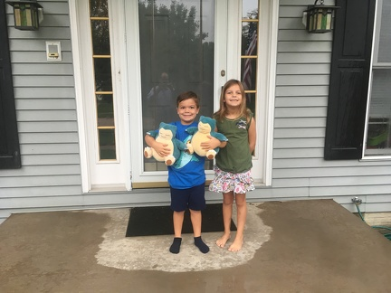 First Day of School 2019 - JB Kindergarden and Greta 3rd grade3