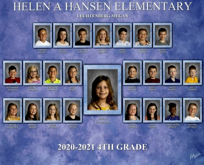 Greta CF Hansen 4th Grade Class Photo