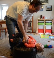 Wrestling with daddy